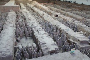 The Terra Cotta Warriors Archeological Site in Xi'an