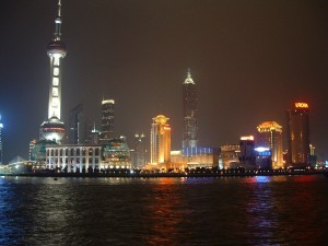 """The New Shanghai Skyline at Night"" Image Courtesy of http://wallpaperweb.org"